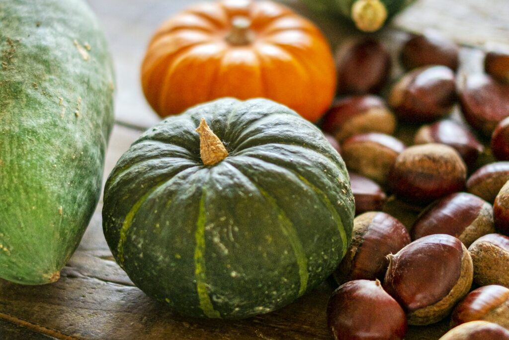 pumpkin and chestnuts
